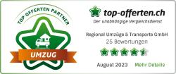 Partnerlabel von Umzug-Vergleichsportal top-offerten.ch